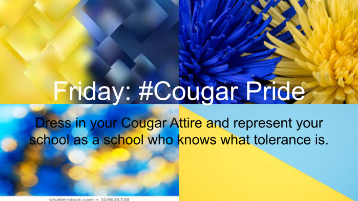 Friday: Cougar Pride day