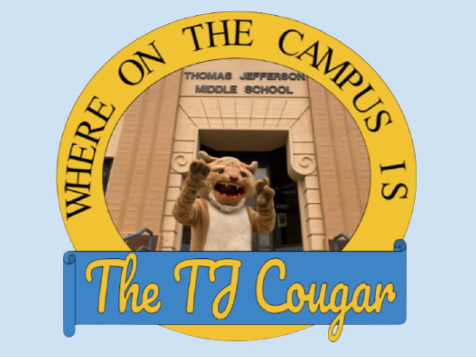 Where on Campus is the TJ Cougar Logo