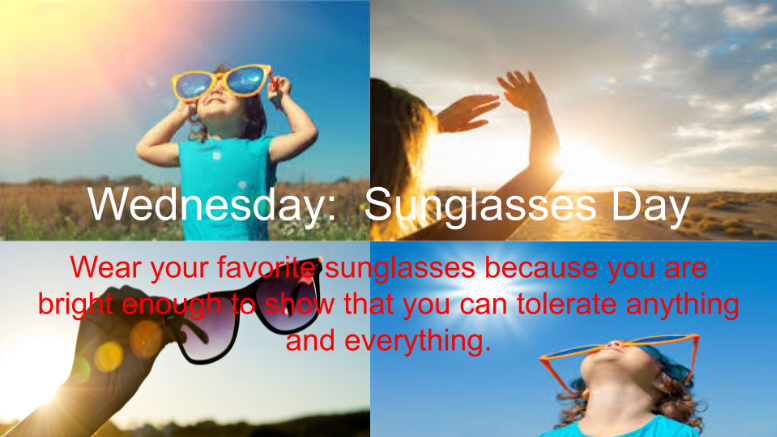 Wednesday: Sunglass Day