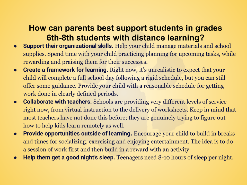 Resources of Parents During Distance Learning