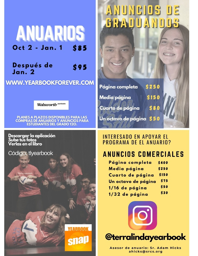 Yearbook Ad Flyer 2020-2021 (Spanish)