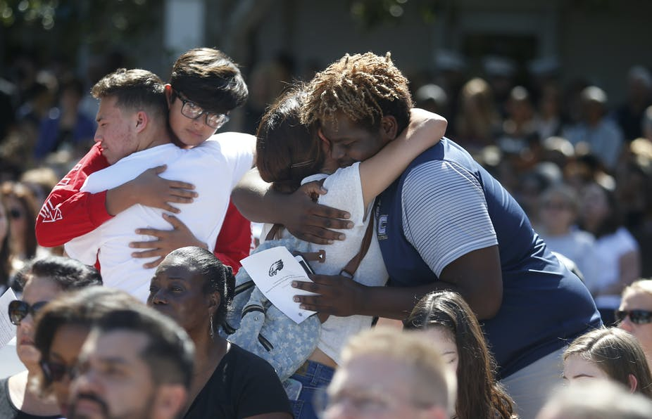 Students mourning after school shooting