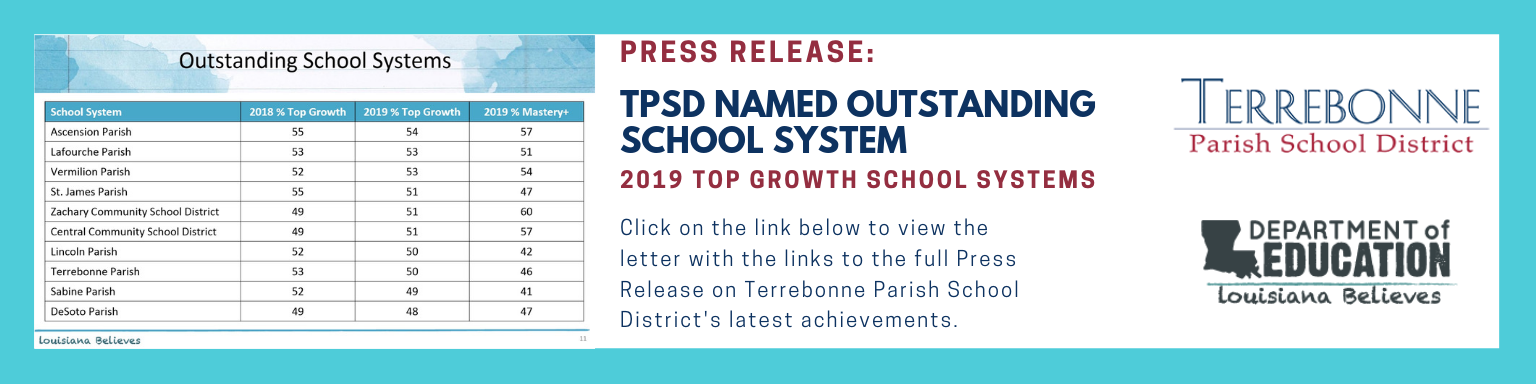 TPSD Named Outstanding School System