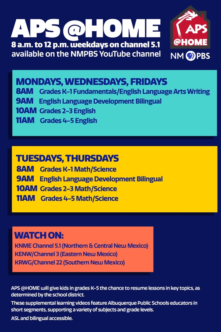 NMPBS Schedule of classes on the NMPBS YouTube Channel.