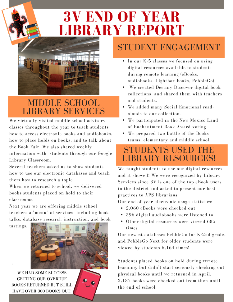 3V Annual Library Report