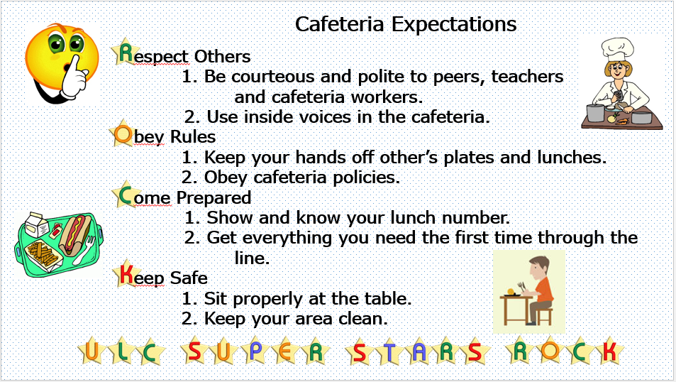 Cafeteria Expectation
