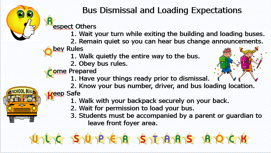 Bus Dismissal and Loading Expectations
