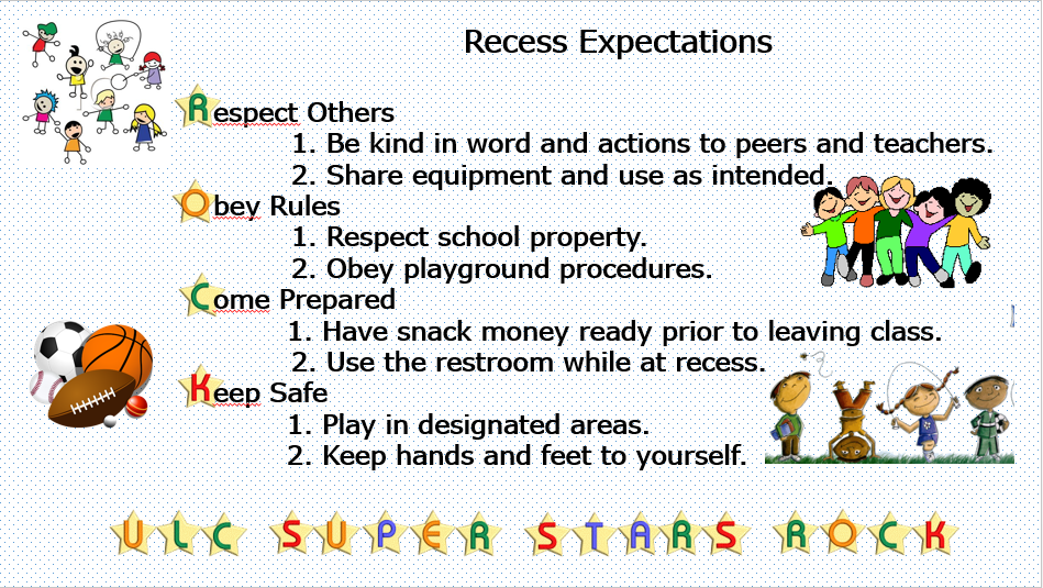 Recess Expectations