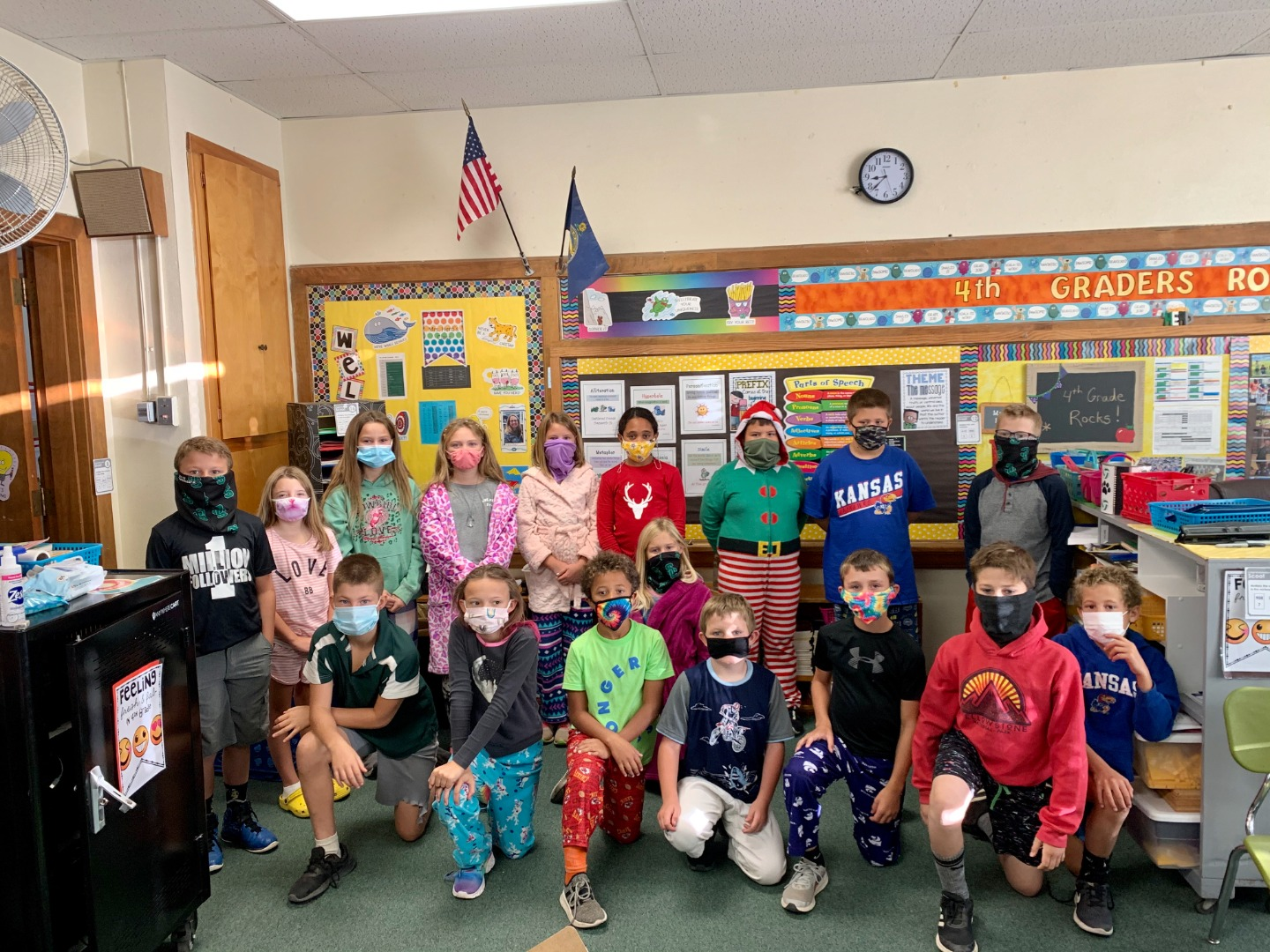 Mrs. Herd's Fourth Grade Class for pj day!