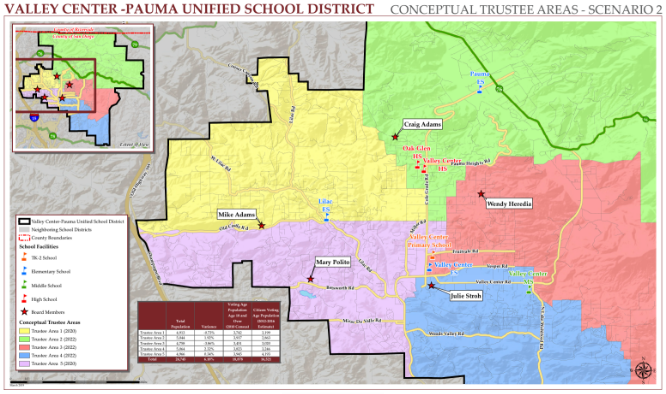 Trustee Area Scenario 2 Map