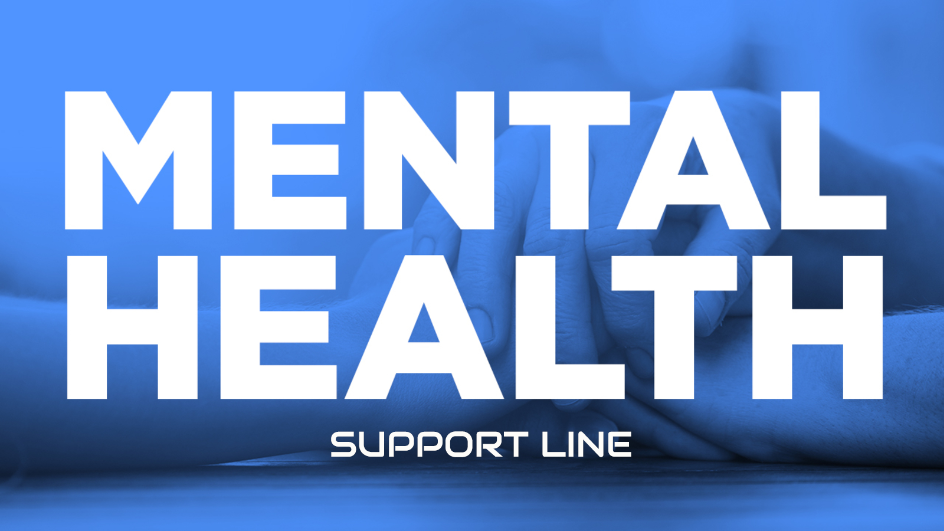 Mental Health Support Line graphic