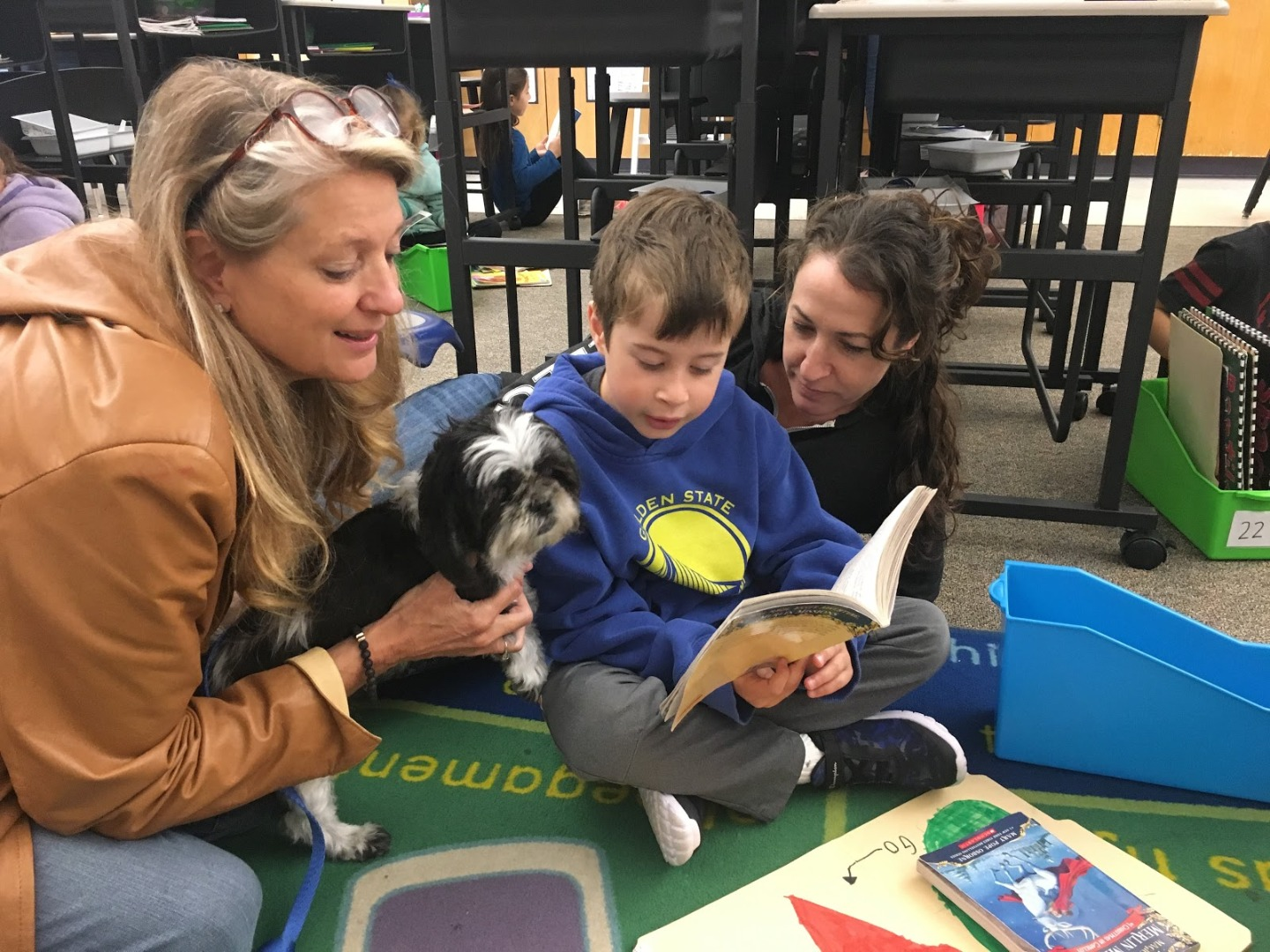 reading with dogs