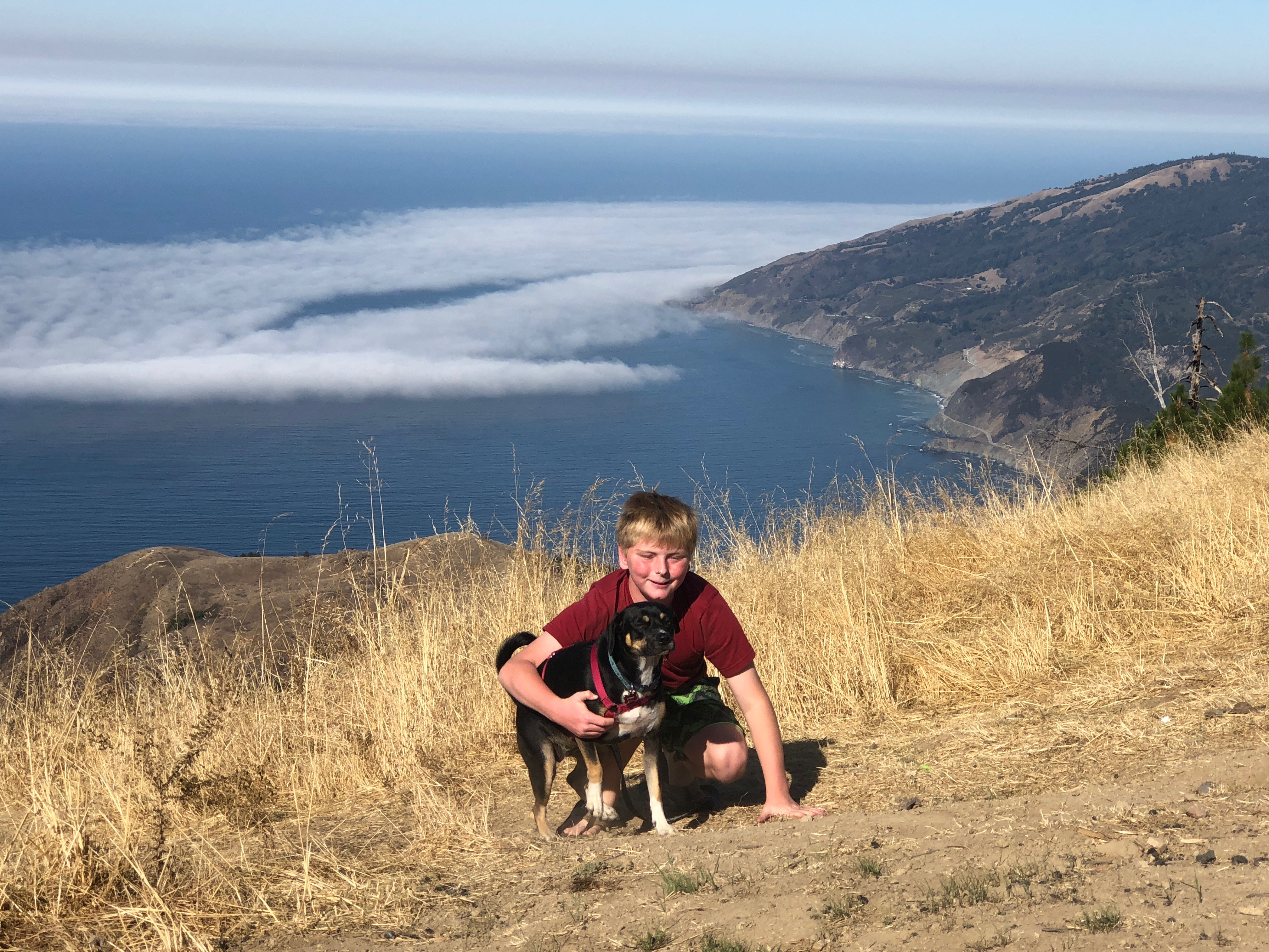 Our Son & Our Pup In Big Sur