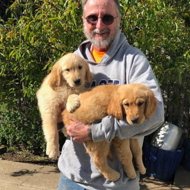 Mr. Swanson with Cooper and Lulu