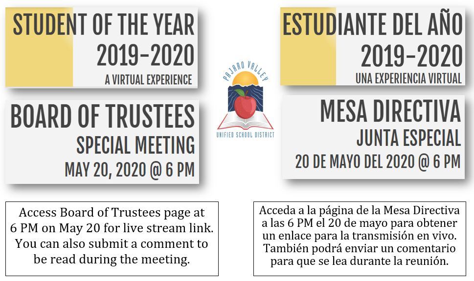 student of the year flyer