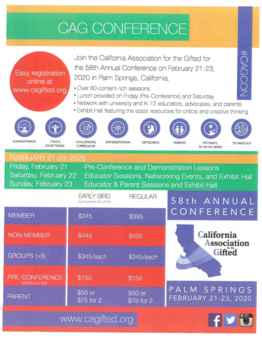 CAG Conference Flyer