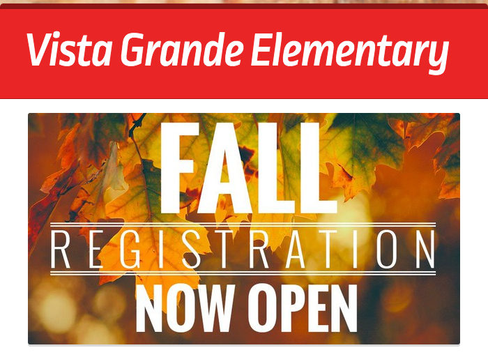 Vista Grande Registration