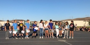 Student Council in action at our Friday Flag Ceremony
