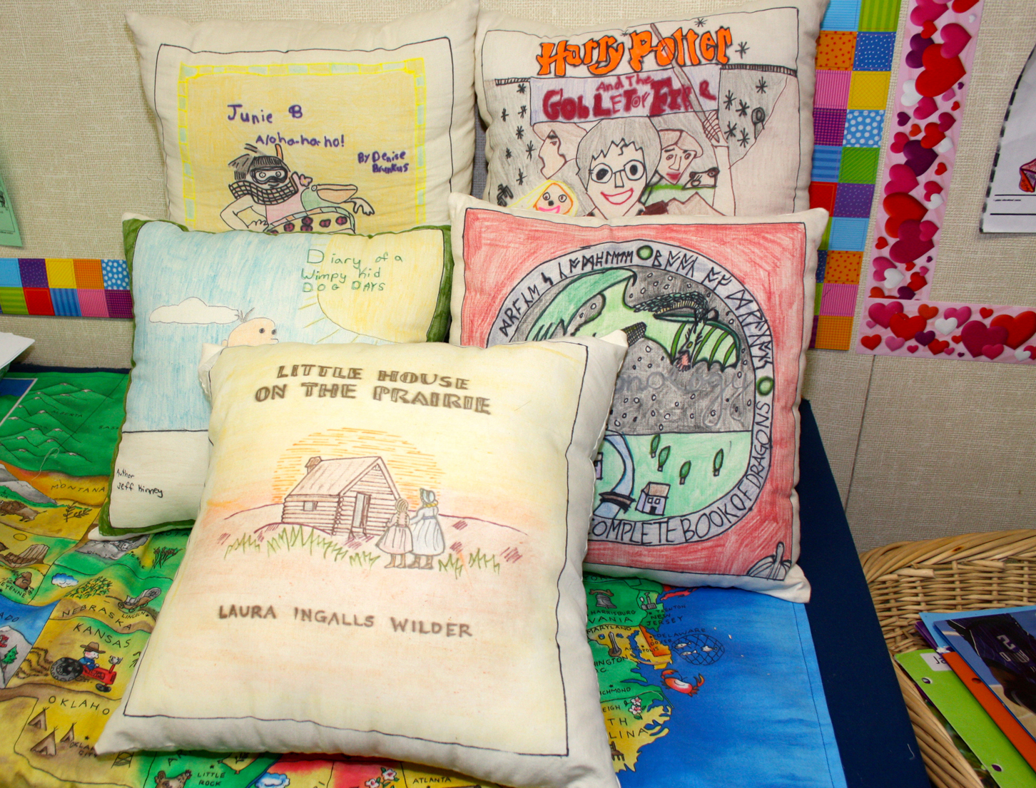 Celebrating our love of reading with book pillows!