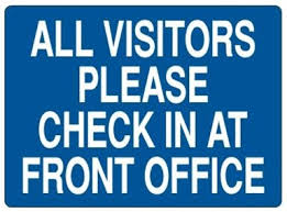 Visitors Check In