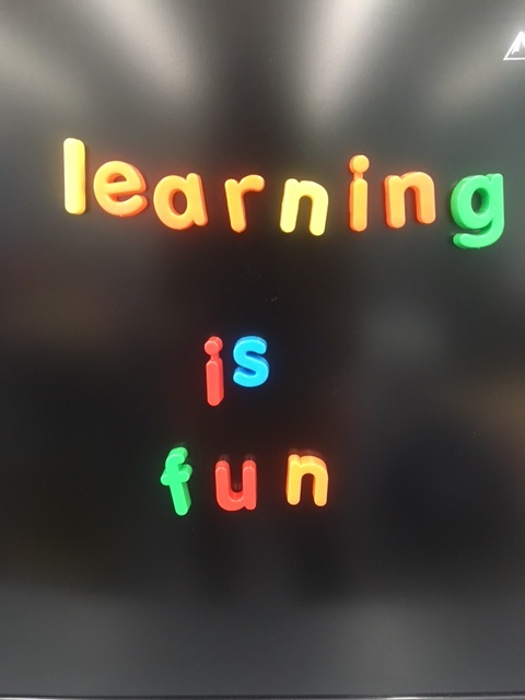 learning is fun word art