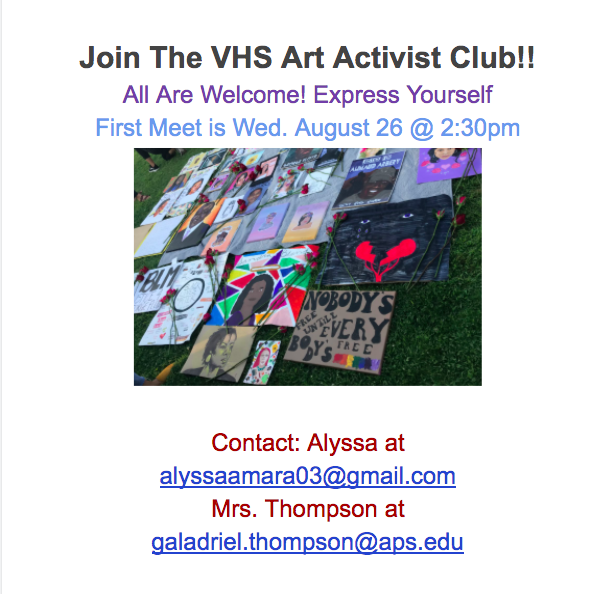 art activist club flyer