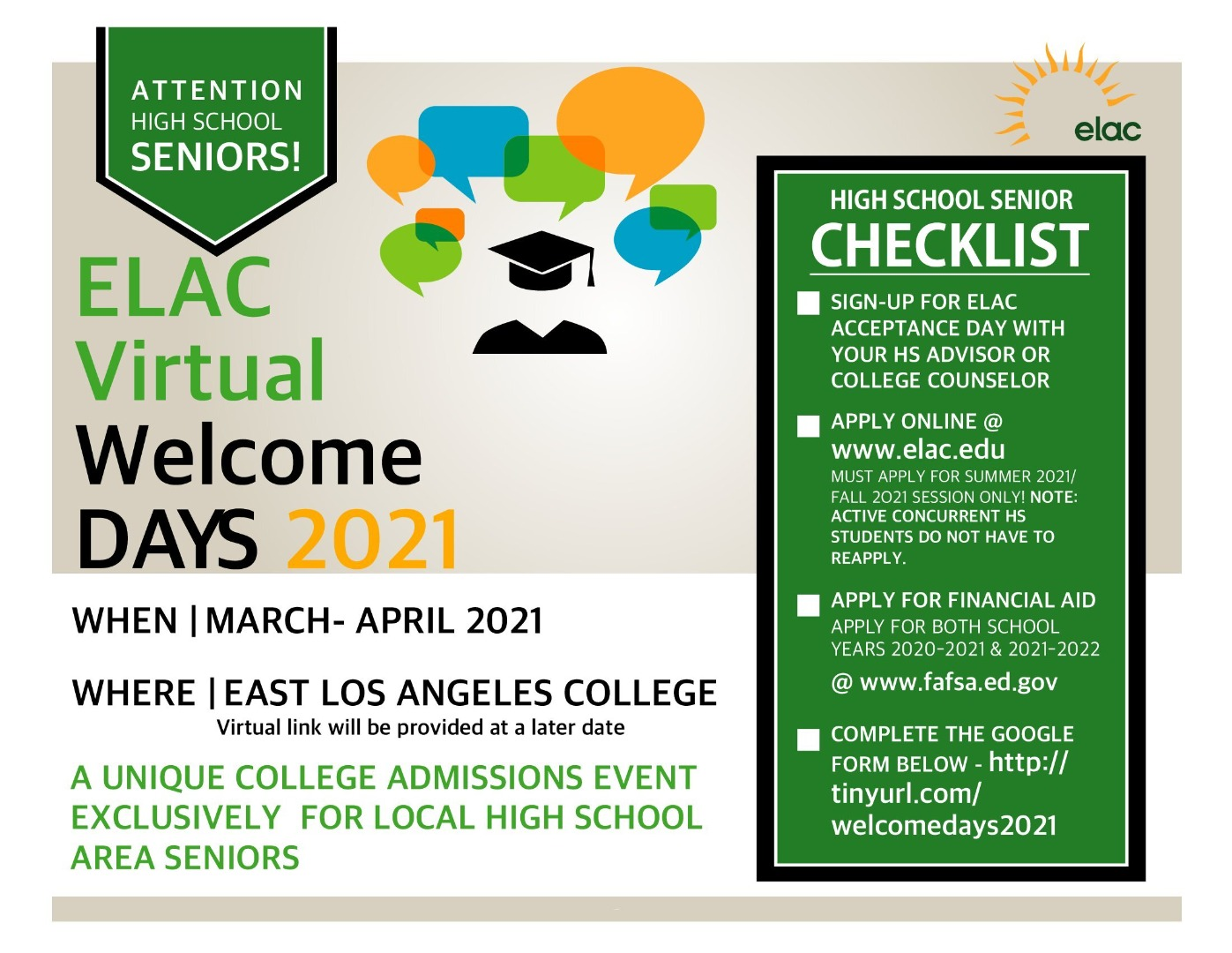 welcome days at elac