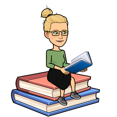 Librarian's Bitmoji and Link to Google Site