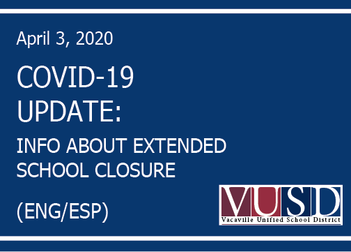 Information about extended school closures.