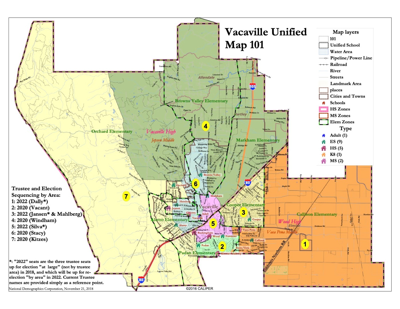 Trustee AREA Map