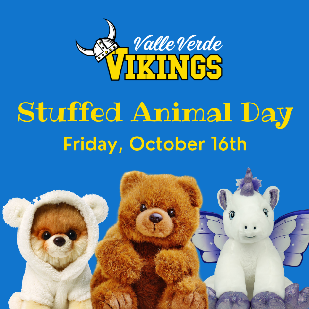 First VVE Spirit Day - Stuffed Animal Day - is Friday, October 16, 2020!