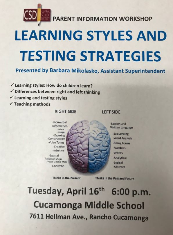 Flyer-Learning Styles and Testing Strategies