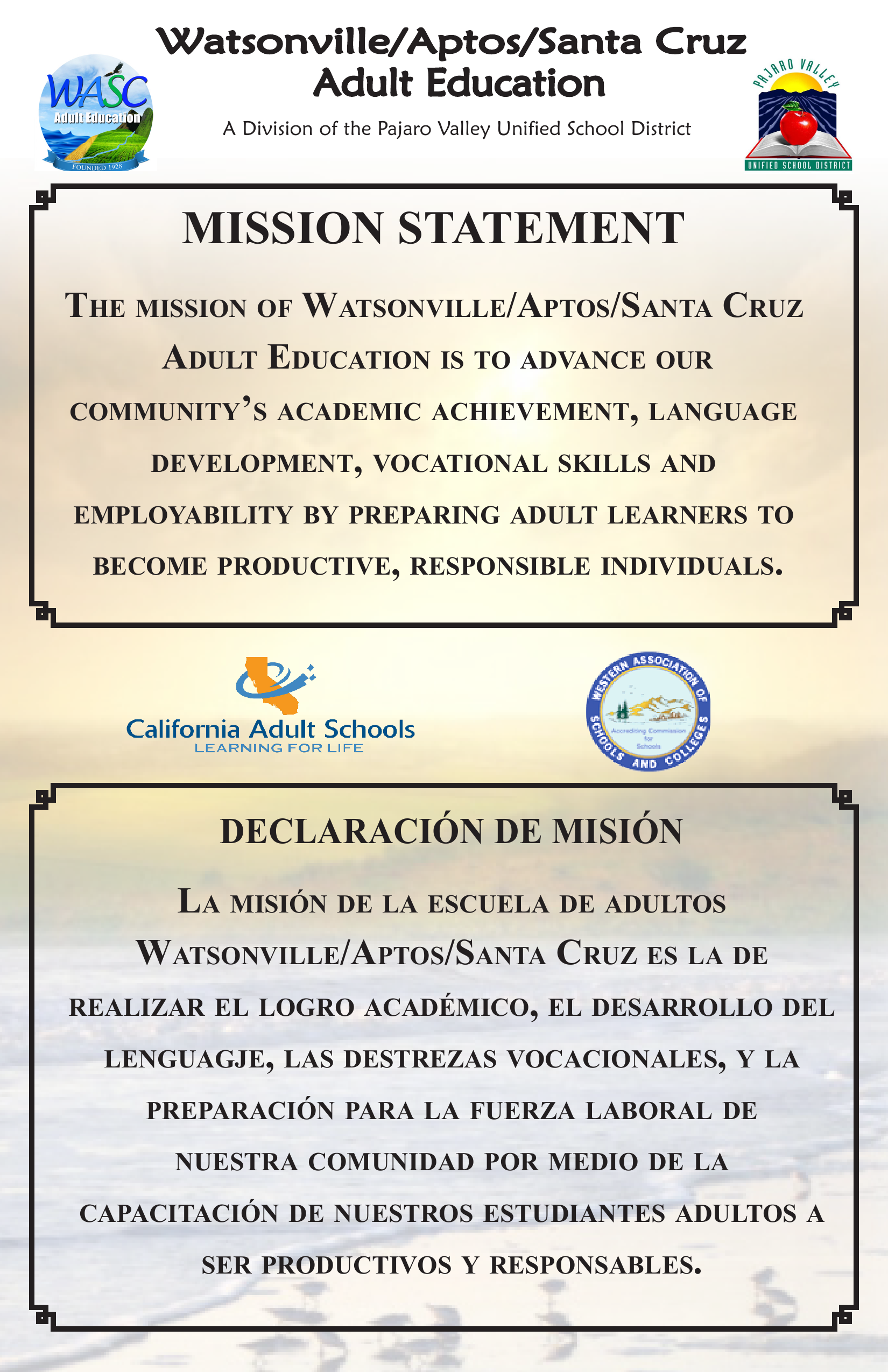 WASC Mission Statement