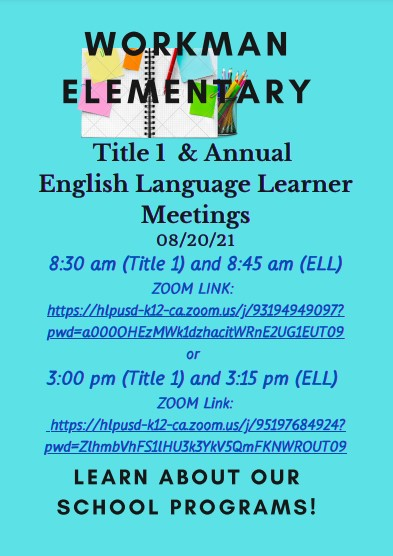 title 1 Meeting 2