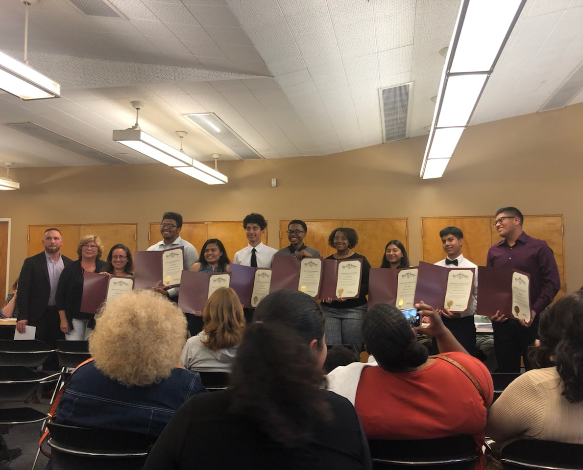 AcaDec honored at Westchester/Playa Del Rey Council meeting