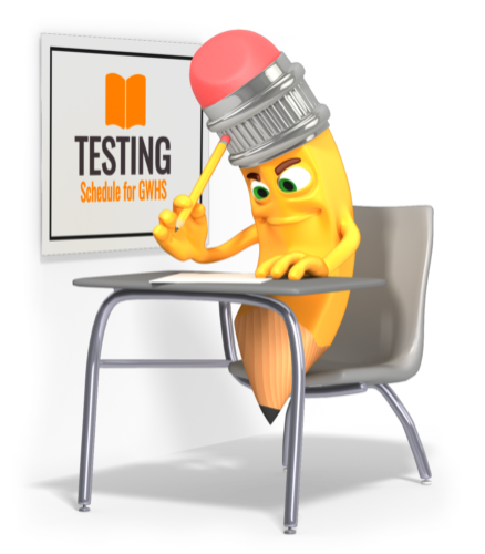 Pencil taking a test