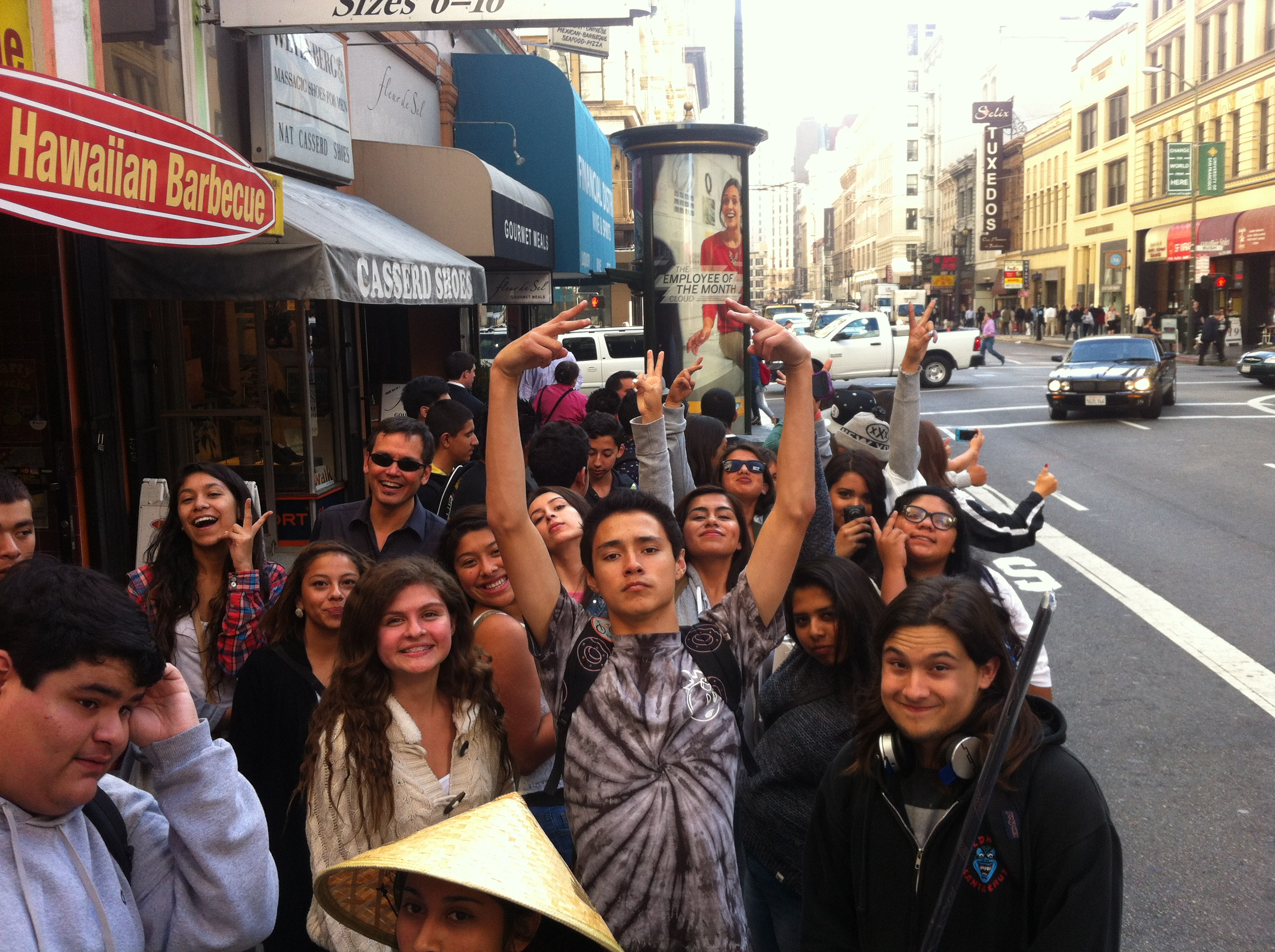 WHS in Chinatown for a scavenger hunt!