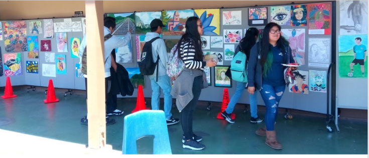 students showing Art