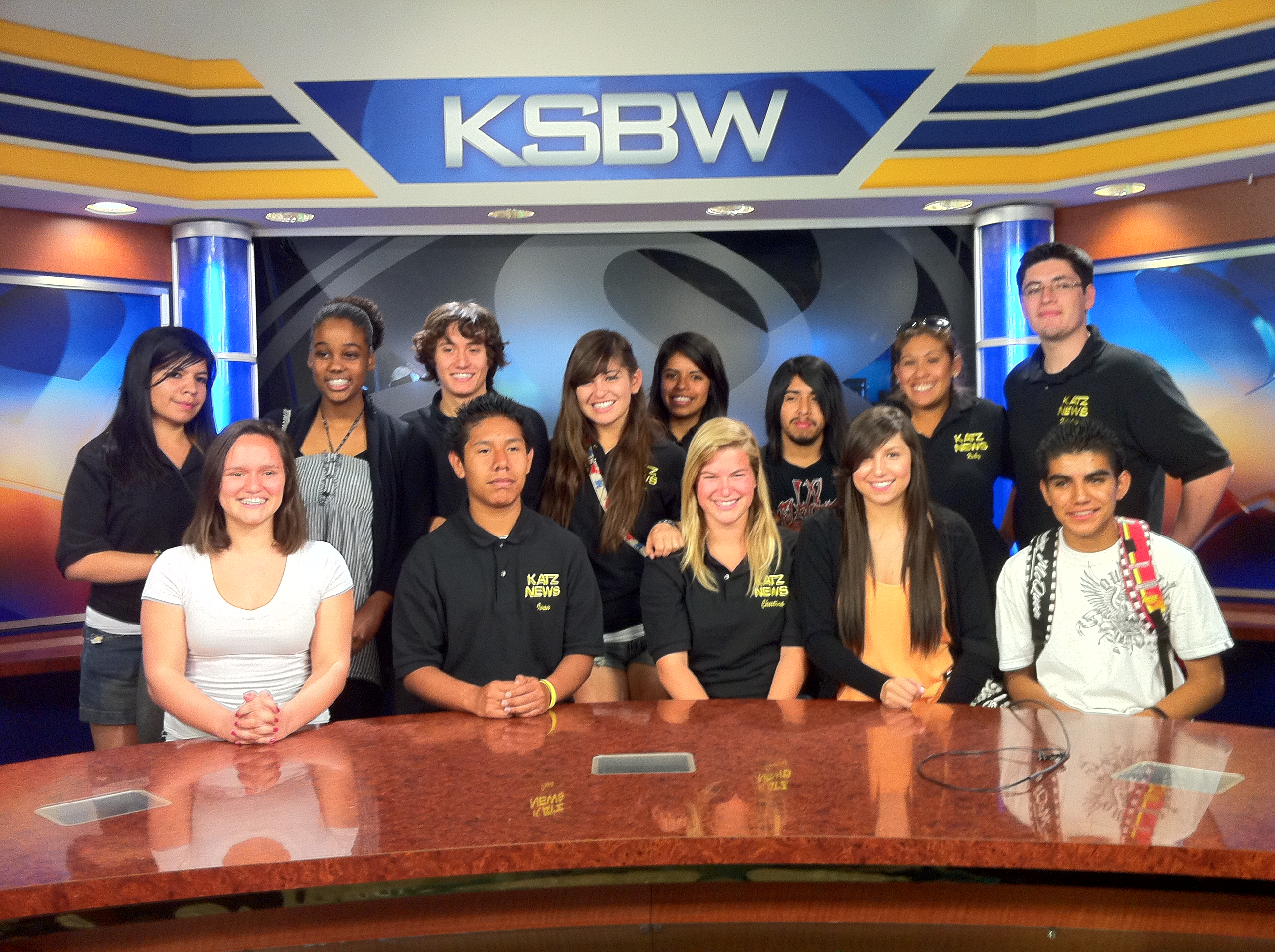 Newsteam visits KSBW TV 8