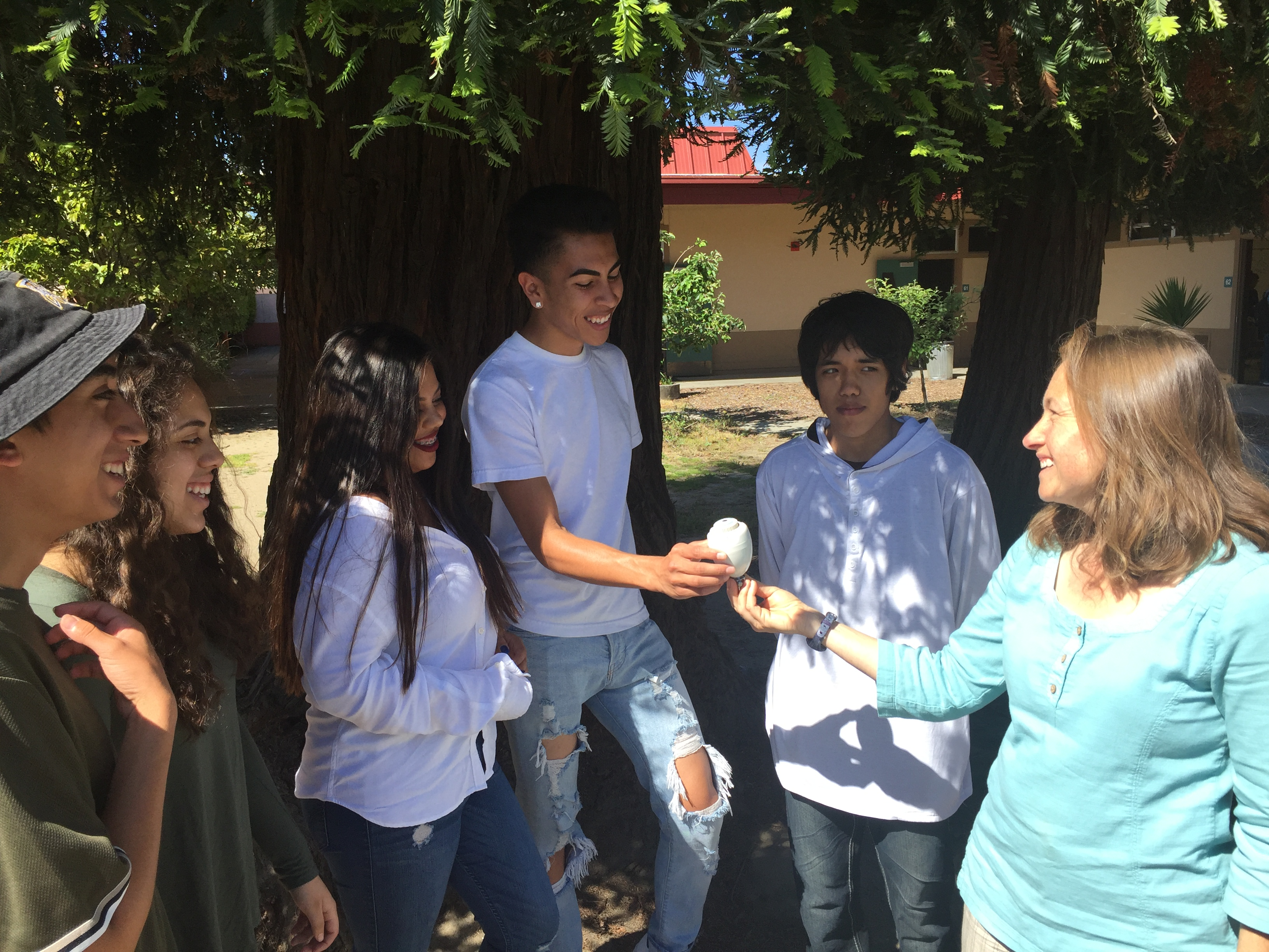 VA Students working with Tami from the City of Watsonville!