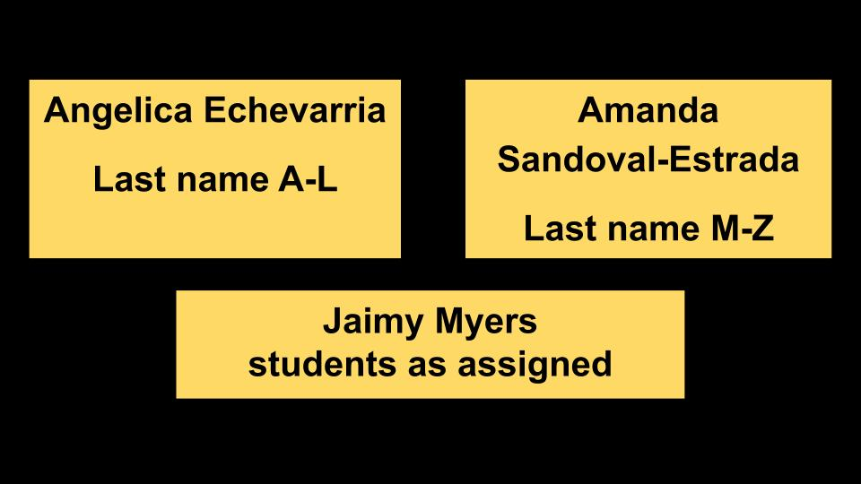 names of 9th grade counselors