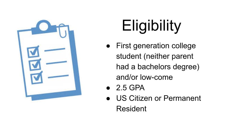 Eligibility requirements for Upward Bound