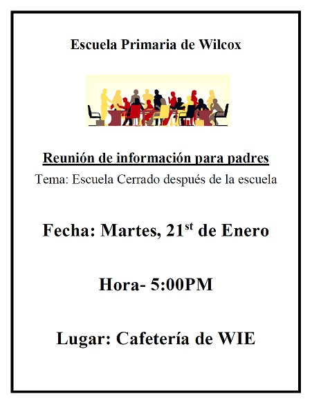 Spanish Flyer Closed Campus Meeting