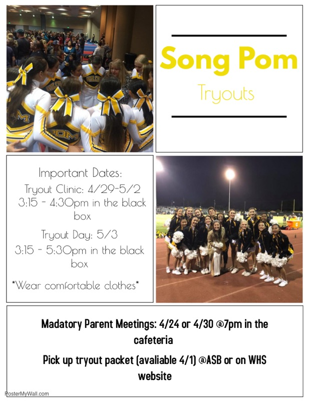 tryout info