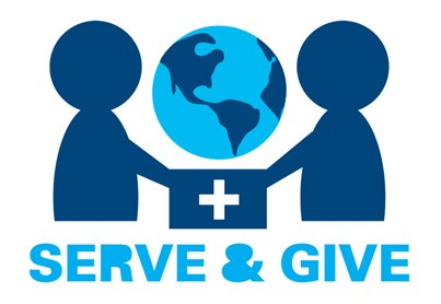 serve and give logo