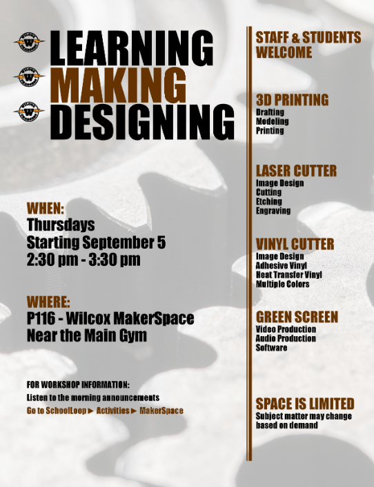 flyer for makerspace