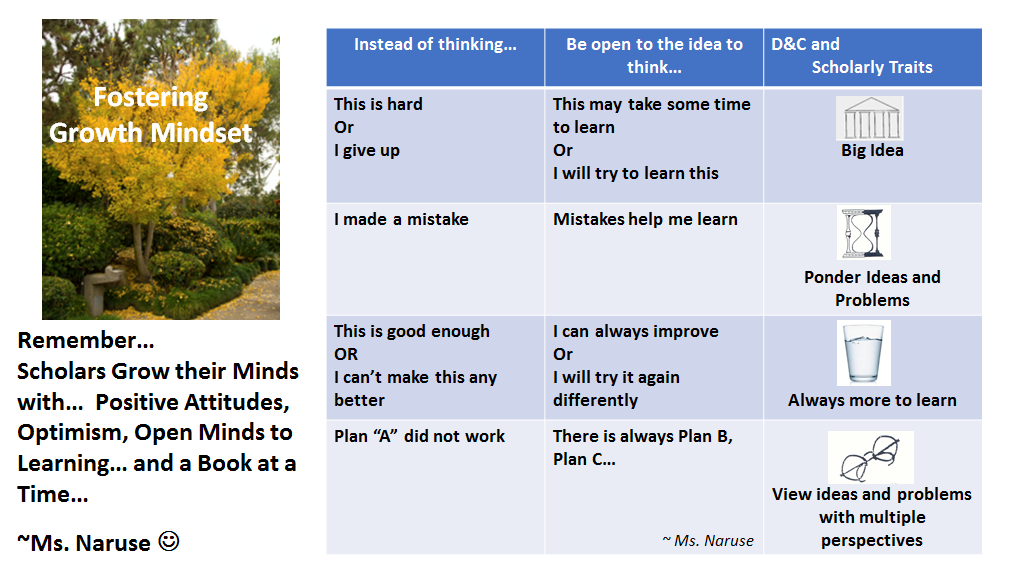 Library and Growth Mindset