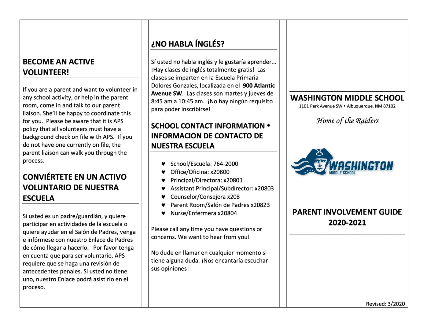 Parent Engagement Page 1