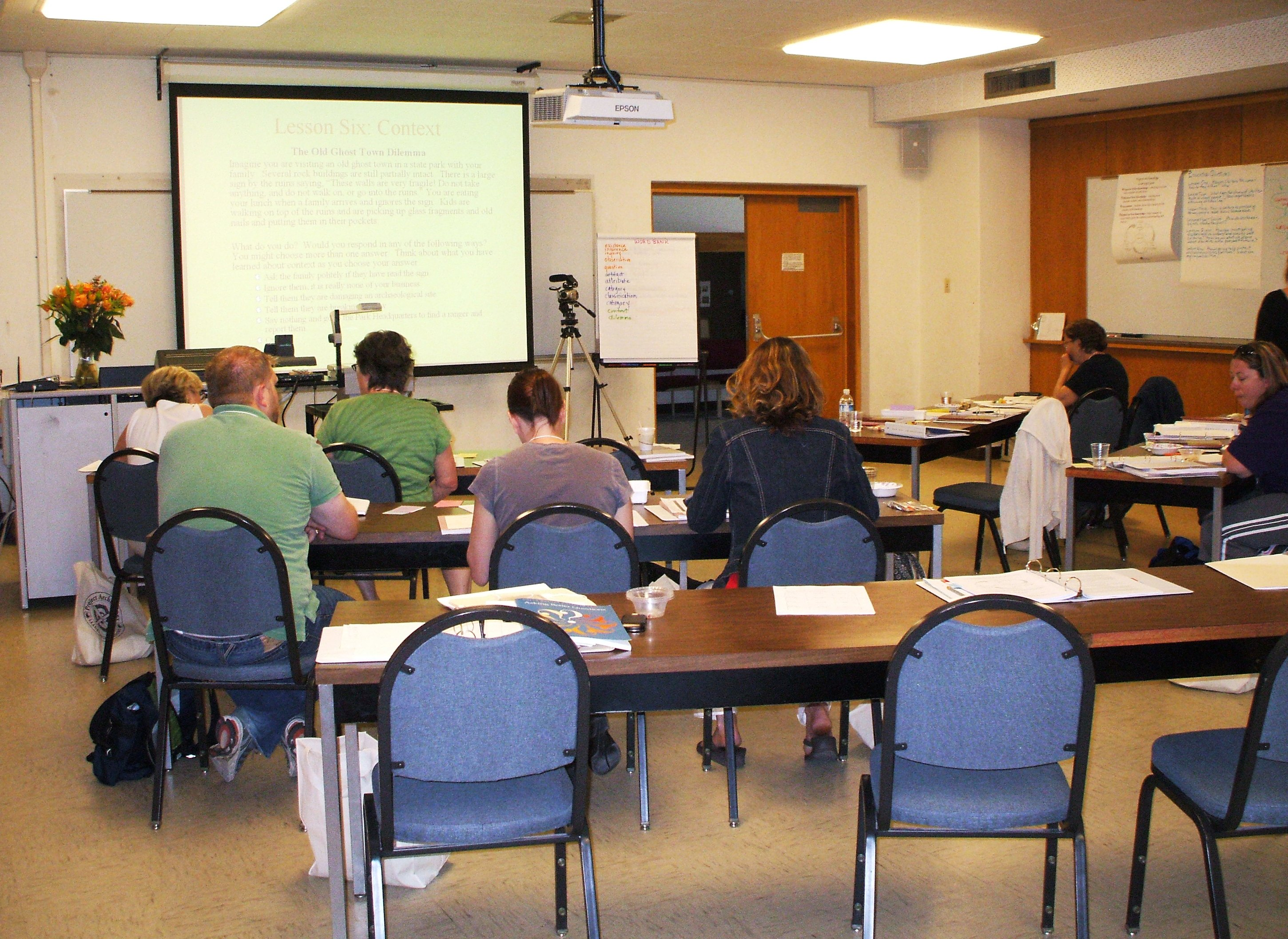 Teachers in a classroom at Montana State University