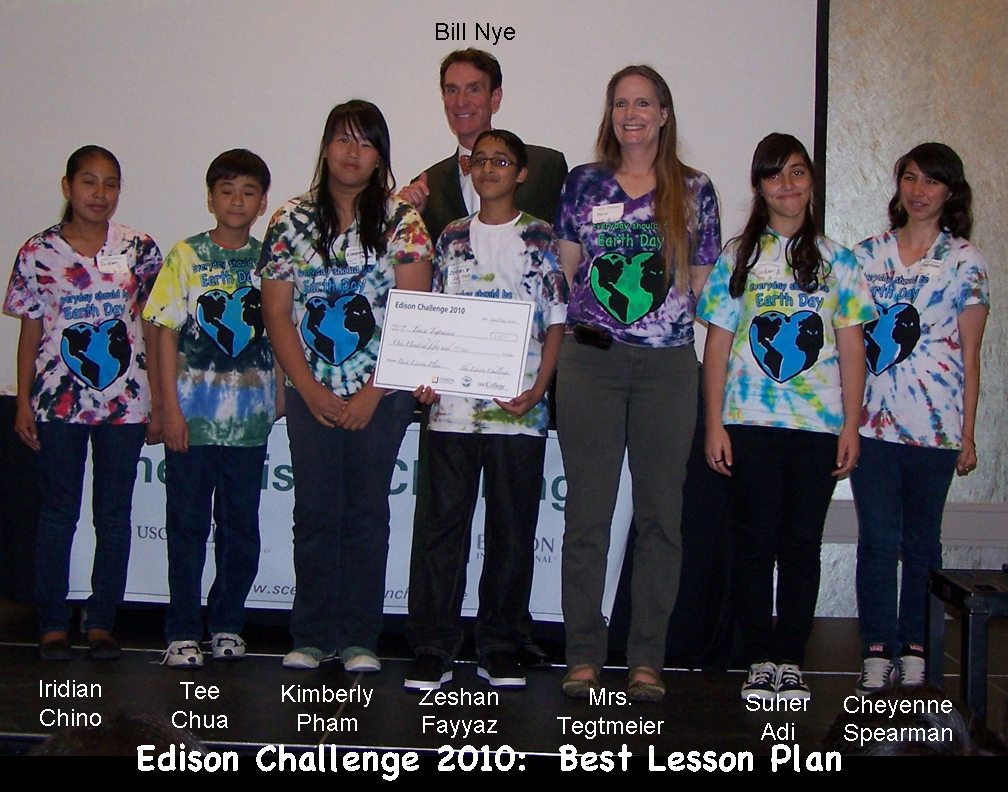 Edison Challenge Students Get Best Lesson Plan Award